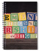 Management Is Doing Things Right Leadership Is Doing The Right Things Spiral Notebook
