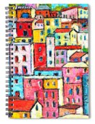 Manarola Colorful Houses Painting Detail Spiral Notebook