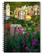 Manarola Flowers And Houses Spiral Notebook