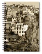 Manarola Italy Sepia Spiral Notebook