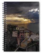 Manarola Sunset Storm Spiral Notebook