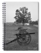 Manassas Battlefield Cannon And House Spiral Notebook
