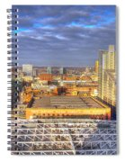 Manchester Skyline Panoramic Hdr Spiral Notebook