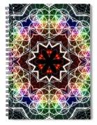 Mandala Cage Of Light Spiral Notebook