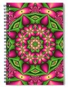 Mandala Green And Pink Spiral Notebook
