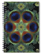 Mandala Peacock  Spiral Notebook