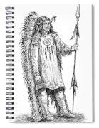 Mandan Indian Chief Spiral Notebook