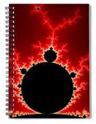 Mandelbrot Fractal Flash Power Red And Black Spiral Notebook