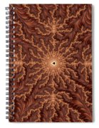 Mandelbrot Woodcarving Spiral Notebook