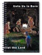 Manger Christmas Card Spiral Notebook