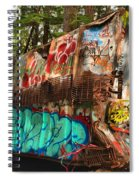 Mangled Whistler Train Wreck Box Car Spiral Notebook