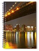 Manhattan Bridge By Night Spiral Notebook