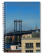 Manhattan Bridge From Brooklyn Spiral Notebook