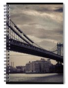 Manhattan Bridge In Ny Spiral Notebook