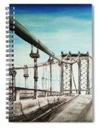 Manhattan Bridge Spiral Notebook