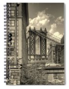 Manhattan Bridge Peeking Through Spiral Notebook