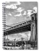 Manhattan Bridge - Pike And Cherry Streets Spiral Notebook