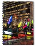 Manhattan Holiday Decorations Spiral Notebook