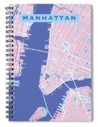 Manhattan Map Graphic Spiral Notebook