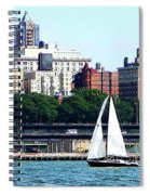 Manhattan - Sailboat Against Manhatten Skyline Spiral Notebook