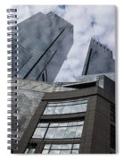 Manhattan Sky And Skyscrapers Spiral Notebook