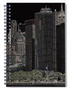 Manhattan Skyline Abstract Spiral Notebook