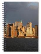 Manhattan Skyline At Sunset Spiral Notebook