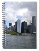 Manhattan Skyline From The Hudson River Spiral Notebook