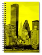 Manhattan Skyline In Yellow Spiral Notebook