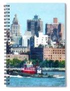 Manhattan - Tugboat Against Manhattan Skyline Spiral Notebook