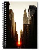 Manhattanhenge Sunset And The Chrysler Building  Spiral Notebook