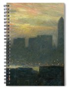 Manhattans Misty Sunset Spiral Notebook
