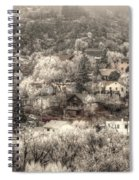 Manitou To The South In Snow Close Up Spiral Notebook
