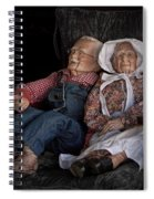 Mannequin Old Couple In Shop Window Display Color Photo Spiral Notebook