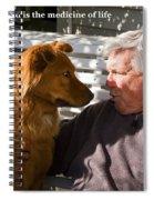Mans Best Friend Spiral Notebook