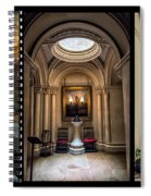 Mansion Hallway Triptych Spiral Notebook