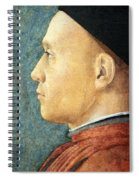 Mantegna's Portrait Of A Man Spiral Notebook