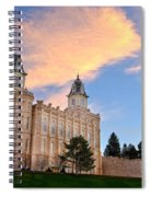 Manti Temple Morning Spiral Notebook