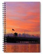 Mantoloking Bridge At Dawn Spiral Notebook