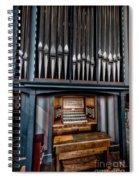 Manual Pipe Organ Spiral Notebook