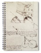 Manuscript B F 36 R Architectural Studies Development And Sections Of Buildings In City With Raise Spiral Notebook