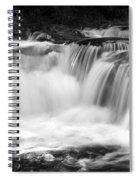 Many Falls - Bw Spiral Notebook