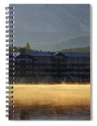 Many Glacier Hotel Sunrise Panorama Spiral Notebook