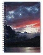 Many Glacier Sunset Spiral Notebook