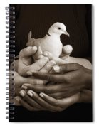 Many Hands Holding A Dove Spiral Notebook