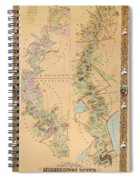 Map Depicting Plantations On The Mississippi River From Natchez To New Orleans Spiral Notebook