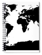 Map In Black And White Spiral Notebook