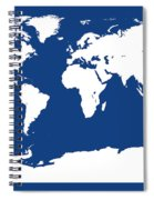 Map In Blue And White Spiral Notebook