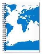Map In Blue Spiral Notebook