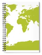 Map In Chartreuse Green Spiral Notebook